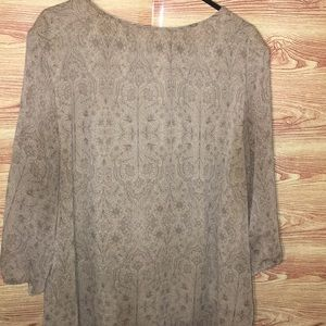 St. John's Bay Tops - ST John's Bay Sheer Blouse 1X